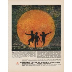 "1963 Yawata Steel Ad ""children at play"""
