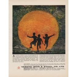 "1963 Yawata Steel Ad ""children at play"""