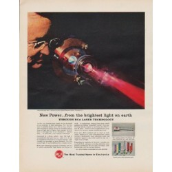 "1963 RCA Electronics Ad ""New Power"""