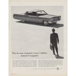 "1963 Cadillac Ad ""Why do some companies"""