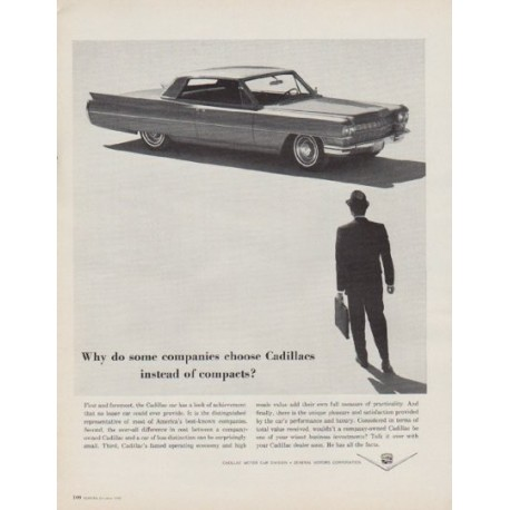 """1963 Cadillac Ad """"Why do some companies"""""""