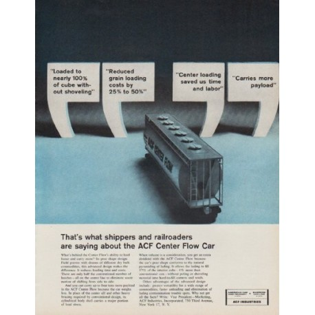 """1963 ACF Industries Ad """"Carries more payload"""""""