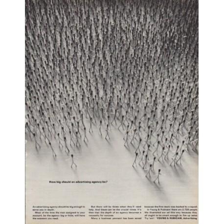 "1963 Young & Rubicam Ad ""How big"""