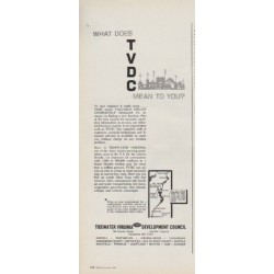 "1963 Tidewater Virginia Development Council Ad ""What Does TVDC Mean"""