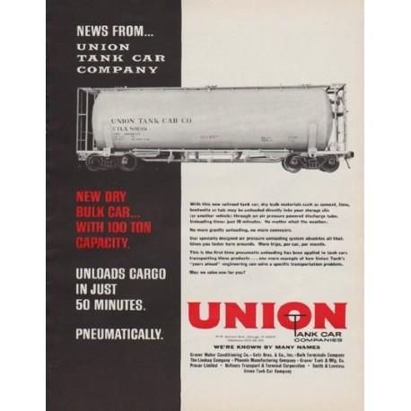 "1963 Union Tank Car Company Ad ""News"""