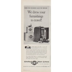 "1963 United Van Lines Ad ""We dress your furnishings"""