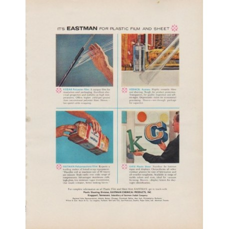 """1963 Eastman Chemical Products Ad """"Plastic Film And Sheet"""""""