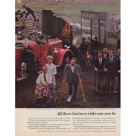 "1963 The Continental Insurance Companies Ad ""business risks"""