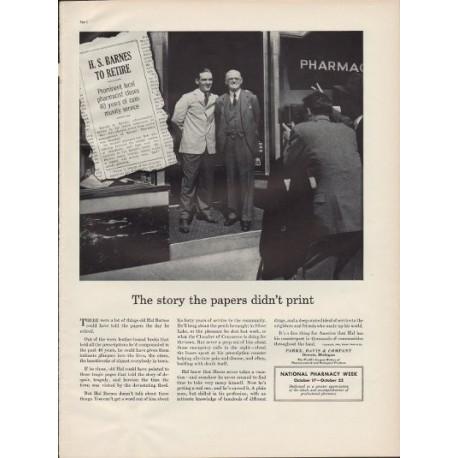 """1938 Parke, Davis & Company Ad """"Hal Barnes"""""""