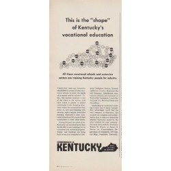 "1963 Commonwealth Of Kentucky Ad ""vocational education"""