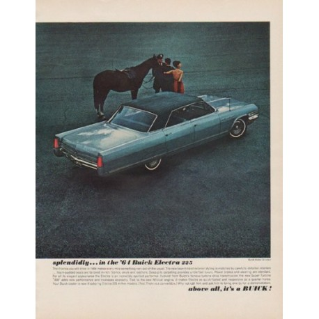 """1963 Buick Ad """"model year 1964"""""""