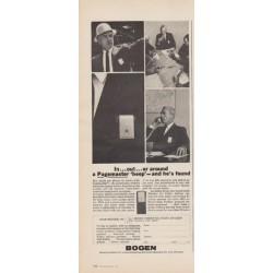 """1963 Bogen Ad """"Pagemaster"""""""