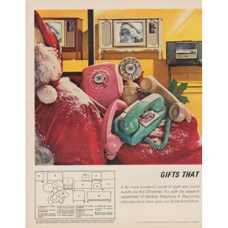 "1963 General Telephone & Electronics Ad ""Gifts That Communicate"""