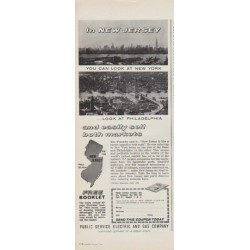 "1963 Public Service Electric and Gas Company Ad ""In New Jersey"""