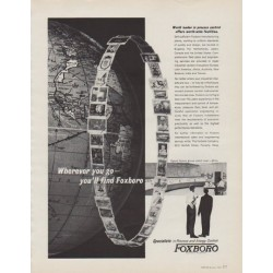 "1963 Foxboro Ad ""World leader in process control"""
