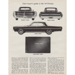 "1963 Pontiac Ad ""model year 1964"""