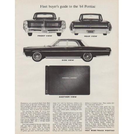 """1963 Pontiac Ad """"model year 1964"""""""
