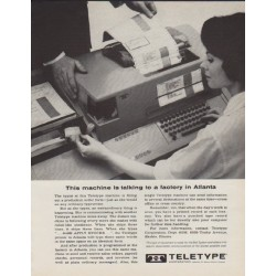 "1963 Teletype Ad ""This machine"""