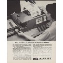 "1963 Teletype Ad ""This machine"""