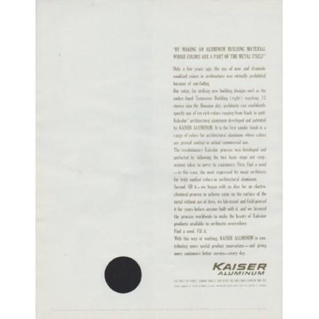 "1963 Kaiser Aluminum Ad ""Colored Architectural Materials"""