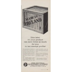 "1963 Irish Industrial Development Authority Ad ""This label"""