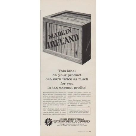 "1963 Irish Industrial Development Authority Ad ""This label"""