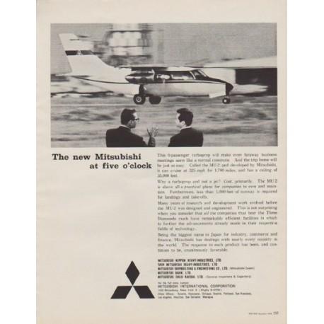 """1963 Mitsubishi Ad """"The new Mitsubishi at five o' clock"""""""