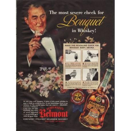 1938 Schenley's Belmont Bourbon Whiskey Ad