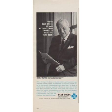"1963 Blue Cross Ad ""Zippo Employees"""