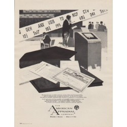 "1963 The American Appraisal Company Ad ""The financial man"""