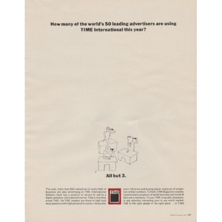"""1963 TIME Magazine Ad """"How many"""""""