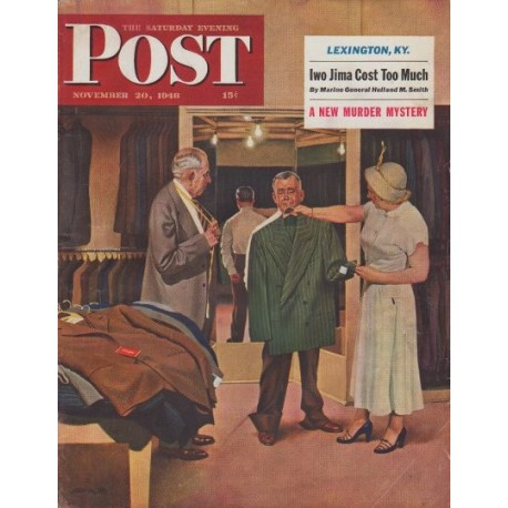 "1948 Saturday Evening Post Cover Page ""Illustrator John Falter"""