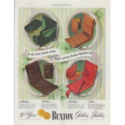 """1948 Buxton Ad """"best family circles"""""""