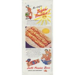 "1948 Swift's Premium Bacon Ad ""Brighter Breakfasts"""