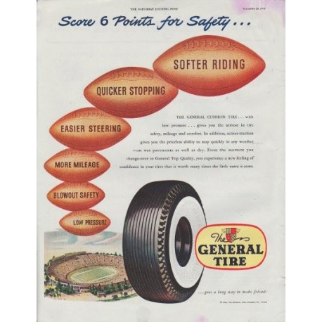 """1948 General Tire Ad """"Score 6 Points"""""""