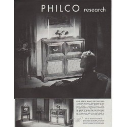 "1948 Philco Electronics Ad ""Greatest Thrills"""