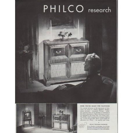 "1948 Philco Electronics Ad ""Greatest Thrills"""
