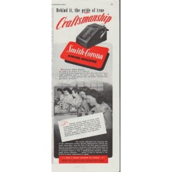 "1948 Smith-Corona Ad ""Craftsmanship"""
