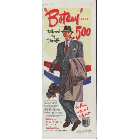 """1948 Fabric by Botany Ad """"Botany Brand"""""""