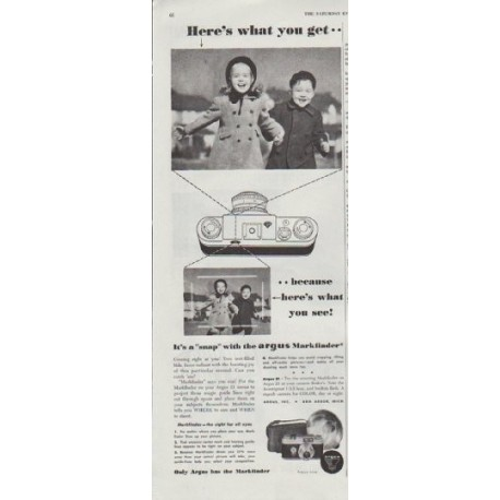 """1948 Argus Ad """"Here's what you get"""""""