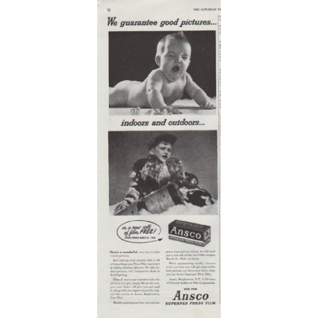 "1948 Ansco Ad ""good pictures"""