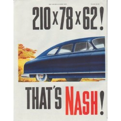"1948 Nash Ad ""model year 1949"""
