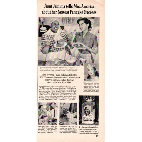 "1953 Aunt Jemima Ad ""Evelyn Joyce Schenk"""
