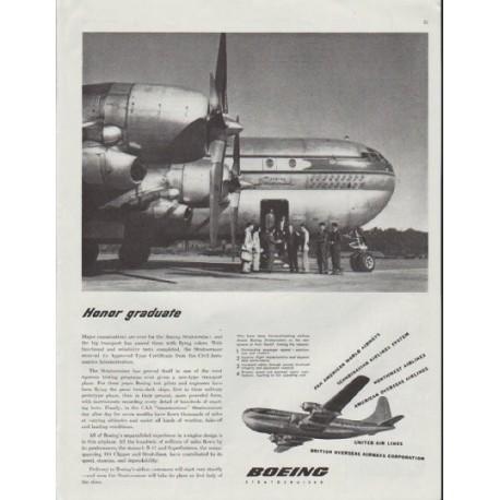 "1948 Boeing Ad ""Honor graduate"""