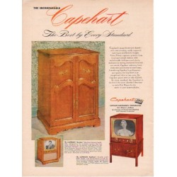 "1953 Capehart-Farnsworth TV Ad ""The Best"""