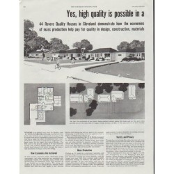 "1948 Revere Building Products Ad ""high quality is possible"""