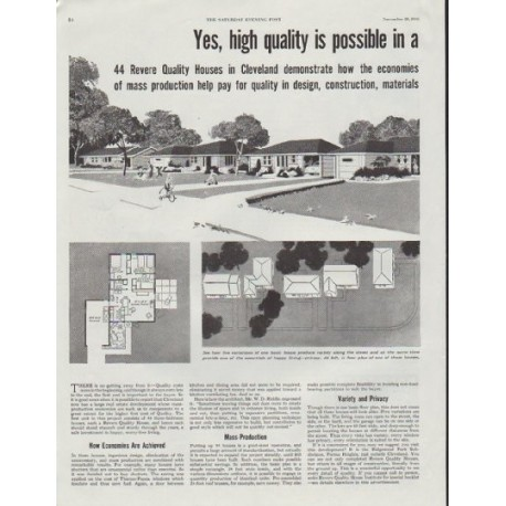 """1948 Revere Building Products Ad """"high quality is possible"""""""