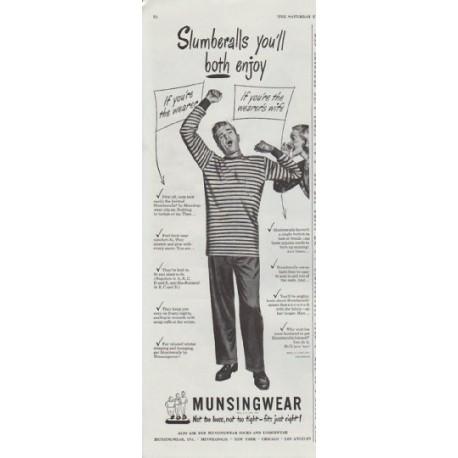"1948 Munsingwear Ad ""Slumberalls"""