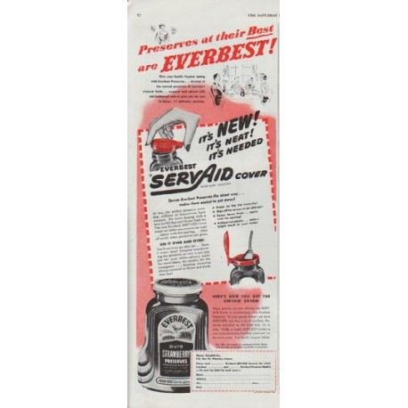 """1948 Everbest Ad """"Preserves at their Best"""""""