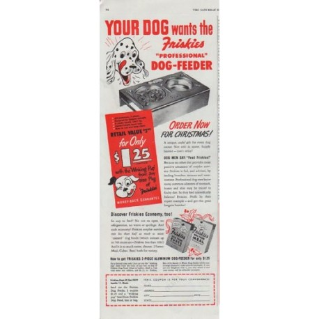 "1948 Friskies Ad ""Your Dog"""